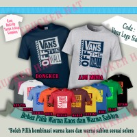 Kaos Baju Distro Branded VANS OFFICIAL Built Up Desain Logo Side