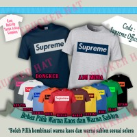Kaos Baju Distro Branded Supreme OFFICIAL Built Up Desain Supreme OFFI