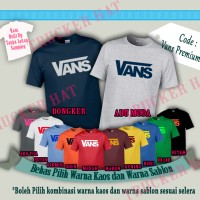 Kaos Baju Distro Branded VANS OFFICIAL Built Up Desain Logo Premium