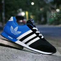 harga Sepatu Sport Adidas V Racer Classic Biru Hitam / Casual / Joging / Ket Tokopedia.com
