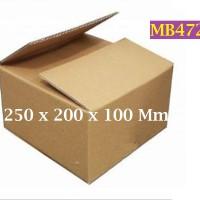 Kotak Kraft Kardus Corrugated SWS002 Ukuran 250 x 200 x 100 Mm - MB472