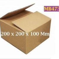 Kotak Kraft Kardus Corrugated SWS003 Ukuran 200 x 200 x 100 mm - MB473