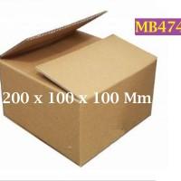 Kotak Kraft Kardus Corrugated SWS004 Ukuran 200 x 100 x 100 mm - MB474
