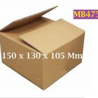 Kotak Kraft Kardus Corrugated SWS005 Ukuran 150 x 130 x 105 mm - MB475