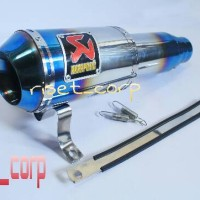Knalpot Ninja 250 Fi / Vixion / CB 150 R / Dll -Akrapovic GP M1 Half Blue