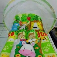 kasur bayi kelambu lipat/bedong/gendongan samping/handuk/baju bayi