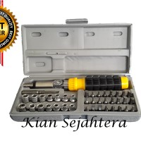 Kunci Sok Set, Sock, Socket Set 41pc Xander / Obeng Set 41pc