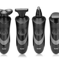 Jual Kemei 4D KM633 4 in 1 Rotary Electric Shaver Waterproof Razor Clipper Murah