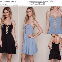Dress sexy hitam, abu import murah