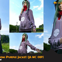 Mekaku City Actors Kido Tsubomi Cosplay Grey Jacket Hoodie (JA MC 01P)