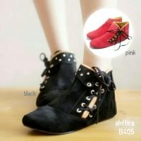 harga Sepatu Wanita Boot Boots Korea Tali Samping Tokopedia.com