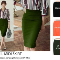 20a0db98b Pencil Midi Skirt / Pensil Skirt / Rok Pensil