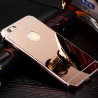 Casing Cover HP iPhone 5 5s 5c 6 6s 6 Plus - Mirror Case Metal Premium