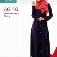 Baju Muslim / Gamis Murah / Alnita AG 16 Navy