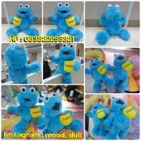 Boneka Monster Cookies Blue serial kartun TV kabel Sesame Street SNI