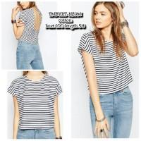 TMBYXT Atasan Stripes Atasan Garis Garis Atasan Backless Baju Sexy
