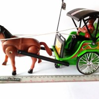Mainan delman kereta kuda lucu