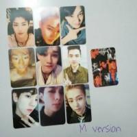 replika photocard exo lotto m version set