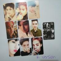 replika photocard exo Lotto K version set
