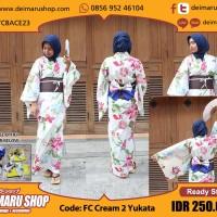 harga [FC Cream 2 Yukata] KOSTUM TRADISIONAL JEPANG KIMONO WANITA Tokopedia.com
