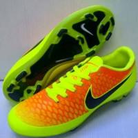 Sepatu Bola Nike Magista Oren-Stabilo list Hitam Grade Ori