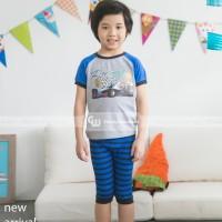 GW 161 B Baju Tidur Anak Laki-Laki Lengan Pendek Celana Pendek
