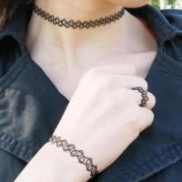 Kalung Gelang Cincin Perhiasan Aksesoris Fashion Tatto Choker Gothic