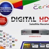 Receiver Parabola Skynindo Ceria HD C01 Free 1 Tahun, Bisskey Power Vu