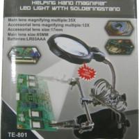 PENJEPIT PCB / PENJEPIT PCB HOLDER + KACA PEMBESAR + LAMPU LED T801