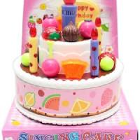 Mainan anakKue Ulang Tahun Singing Cake Music Happy Birthday Bernyanyi
