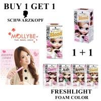 1 + 1 Schwarzkopf Freshlight Hair Color / Foam Color