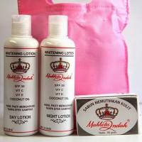 Paket Pemutih Mahkota Indah 3in1+Tas ORI (2 Whitening Lotions & Sabun)