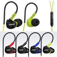 headset Original FONGE New Sport Earphone Bass Over Ear Design