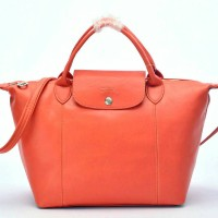 Tas Longchamp Le Pliage Cuir MEDIUM Tote Orange P502992