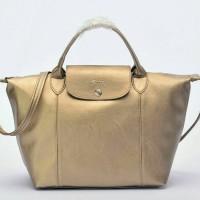 Tas Longchamp Le Pliage Cuir MEDIUM Tote GOLD P502992
