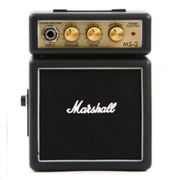Marshall MS2 Mini Guitar Amplifier (ORIGINAL) - Black