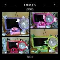 set ruang tv 4in1 boneka karakter ( bando tv . kipas tisu .remot)