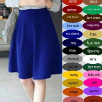 Flare Midi Skirt Rok Flare midi fit to L