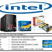 PAKET CPU RAKITAN GAMING 7 /INTEL I3 4150(3.5 GHZ)/ RAM 4GB /HDD 500GB