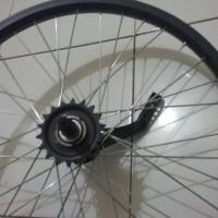 harga wheelset belakang sepeda 20inc bmx, lipat terpedo  t18 Tokopedia.com
