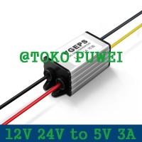 12V 24V to 5V 3A DC Buck Woterproof Converter Step Down Regulator AS55