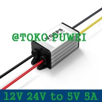 12V 24V to 5V 5A DC Buck Woterproof Converter Step Down Regulator AS57