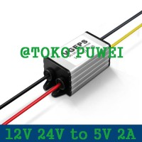12V 24V to 5V 2A DC Buck Woterproof Converter Step Down Regulator AS53