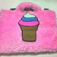 Tas laptop/ softcase laptop Ice Cream 13-14inci bisa custom nama dll