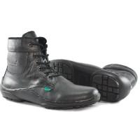 sepatu boot formal kerja kantor simpel kickers kulit asli