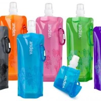 Botol Air Minum Lipat Portable Souvenir Bottle / Vapur Polos Foldable