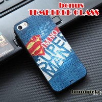 Rubber Softcase 3D SuperMan Iphone 5 / 5s Case / Casing Iphone 5 / 5s