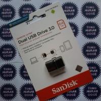 Flash Disk Sandisk Ultra Dual USB Drive 3.0 / OTG 64GB / 64 GB