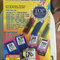 Tinta Suntik Data Print 3 Warna DP 28- Printer HP atk