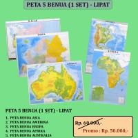 PETA 5 BENUA - LIPAT (1 SET = 5 BUAH PETA)